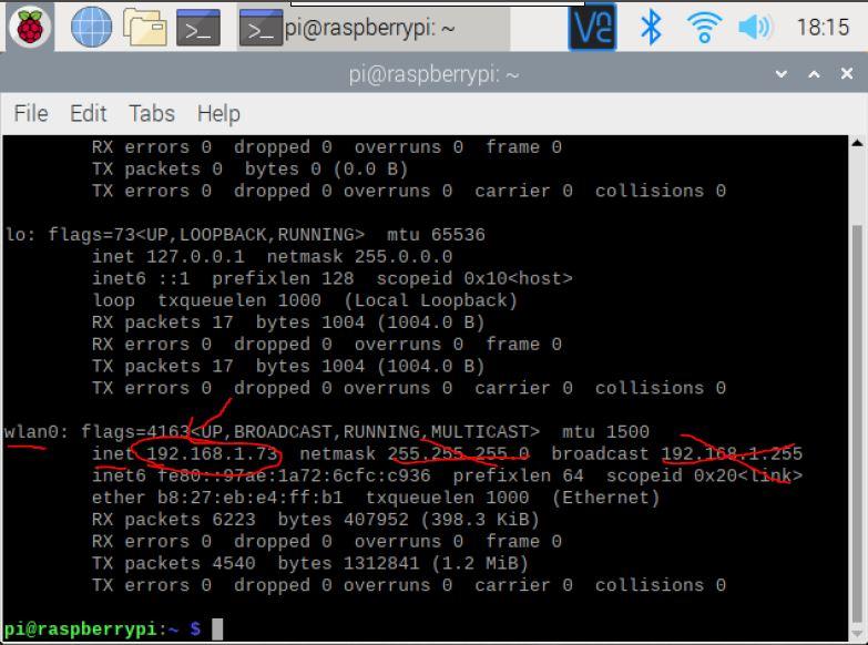 Find IP on Raspberry Pi