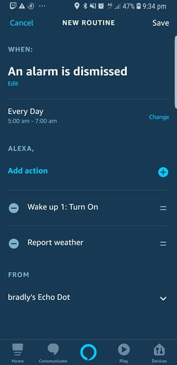 Alexa Custom Routines - Home Automation Routines