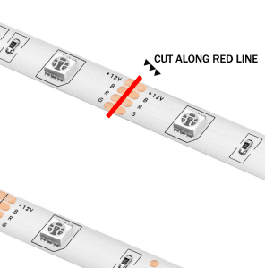 Where do I cut my RGB Light Strip?