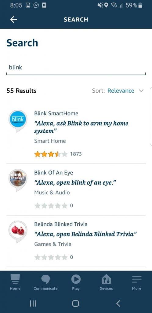 Blink Skill on Alexa