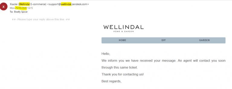 Wellindal Scam / Poor Service