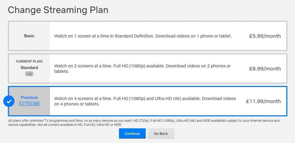 Netflix upgrade to 4K streaming (Premium UltraHD)