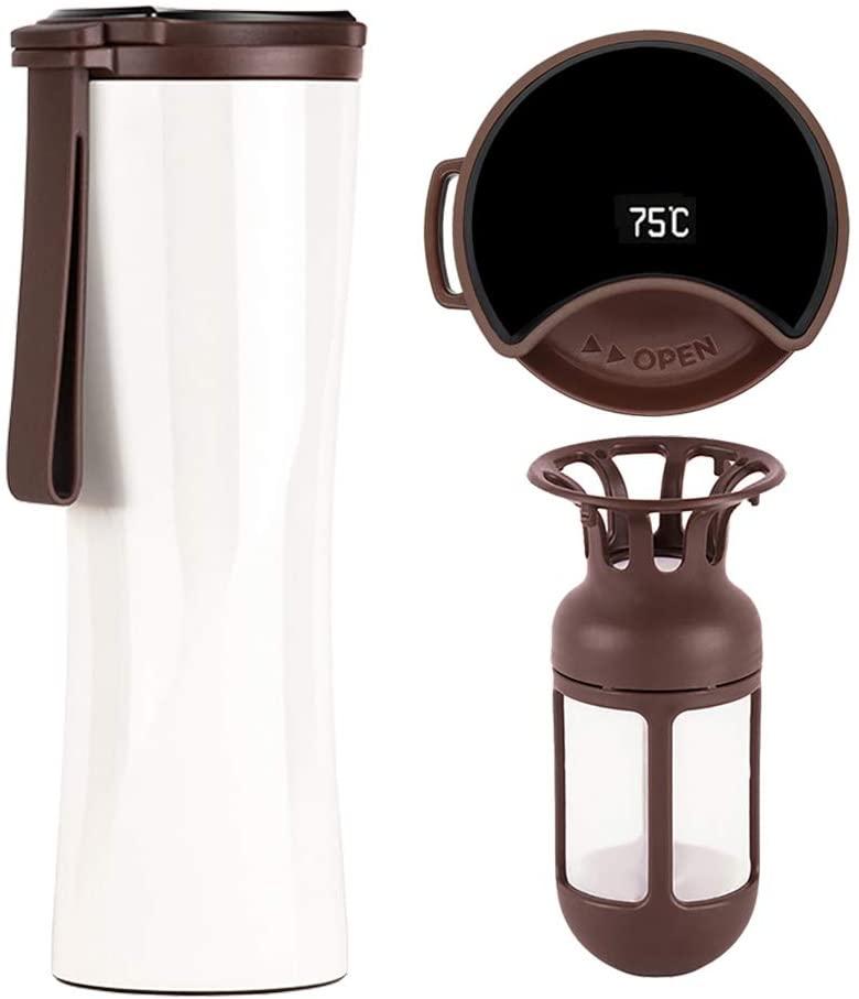 Smart Travel Mug with Vacuum Flask, Smart Coffee Tumbler